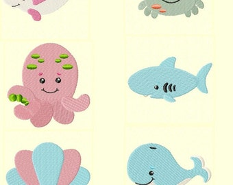 Seababy Friends Machine Embroidery Design Set