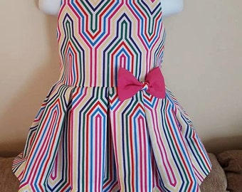 Toddler Girl Colorful Pleated Dress