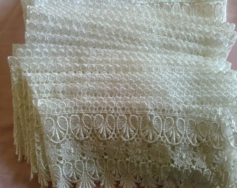 White Venice Lace Trim 13 yards