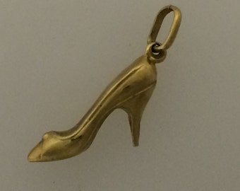 9ct Gold High Heel Shoe Charm