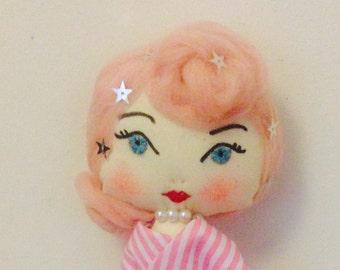 Miss Betty. Handmade art doll.