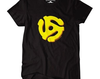 45 Record Adapter T-Shirt - Classic Heavy Cotton (Ships Free)