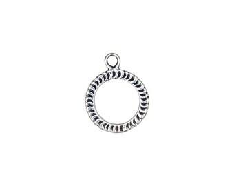 Designer Toggle Clasp -Sterling Silver (#5085)