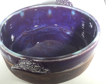 Baking Dish, Handmade Pottery, Eggplant (purple)