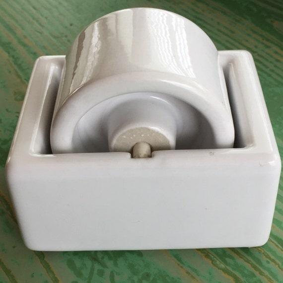 Vintage Large Porcelain Letter Stamp Moistener Roller