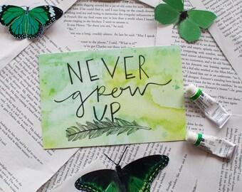 Never Grow Up // Peter Pan Print