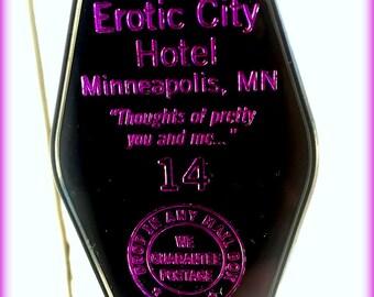 PRINCE inspired EROTIC CITY keytag