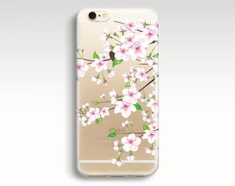 iPhone 6 Case, Clear iPhone 6s Case, Floral iPhone 6 Case, Soft Rubber iPhone 5s Case, Flowers iPhone 6 Case  iPhone 5s Cases Christmas Gift