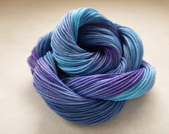 """Hand dyed cotton thread, HDT, Size 10, 15, 20, 40, 50, 70, multycolor,HDT, tatting, crochet,macrame, lacemaking,craft thread, """"GalaxyCream"""""""""""
