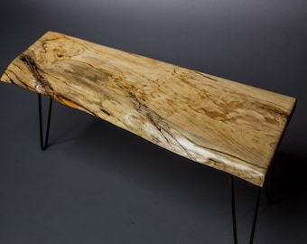Free Shipping!!**  Reclaimed Spalted Maple Live Edge Coffee Table