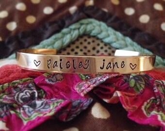 Brass or Aluminum cuff bracelet