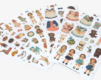 Paper Doll Mate Stickers Set Of Paper Doll Stickers
