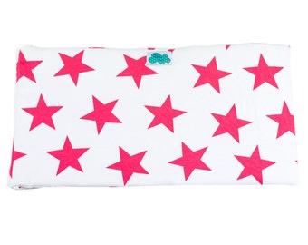 Crib Bumper. Star Red