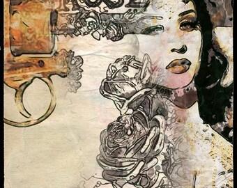 Original digital art. Digital paper for art & craft projects. Digital design resource. Commerciel use.