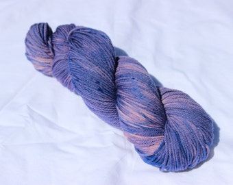 Lavender Fields 8 ply sustainable New Merino Hand Dyed Yarn 100g~TamsCraftyKnits