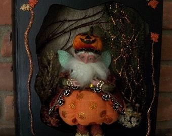 "Mark Roberts ""Pumpkin Polkadot Fairy"" in Shadowbook"