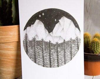 SALE - Forest Landscape - Mountain Landscape - Art Print