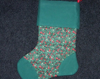 Pointsettia Christmas Stocking