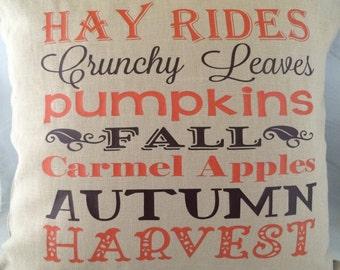 Fall Decor, Autumn Pillow, Fall Pillow, Autumn Decor, Thanksgiving Pillow, Tan Pillow