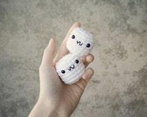 Marshmallows keychain, cute marshmallow, gourmet marshmallow, sugar, dessert, s'mores, treat, accessory, keychain, marshmallow plush