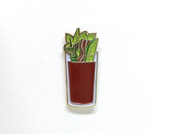 Bloody Mary enamel pin //  brunch enamel pin, bloody mary lapel pin, brunch so hard, brunch pin, bloody mary pin, pingame, cocktail pin