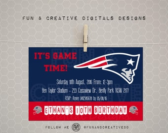 New England Patriots Inspired Invite
