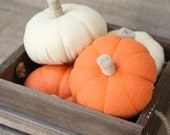 Mini Felt Fabric Pumpkins - Pretend Play Kitchen/Fall Decor/Table decoration/Halloween/Thanksgiving