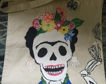 Frida Kahlo One of a Kind Hand Painted Bags