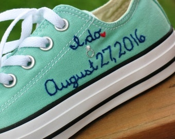 Custom Converse, Custom Wedding sneakers, Wedding Converse, Custom Wedding Shoes, Custom Chucks, Custom Keds, Custom Toms, Wedding shoes