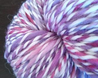 Alpaca handspun yarn hand dyed
