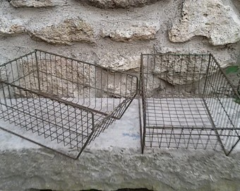 Locker, metal, industrial Wire basket / workshop