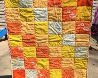 Bright Oranges and Yellows Baby Quilt