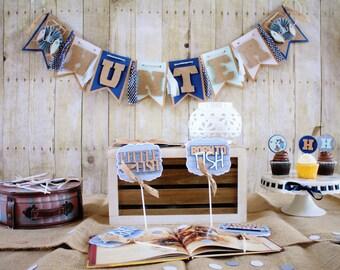 Fishing Theme Baby Shower; Classic Fishing Party Decor;  Fishing 1st Birthday; Fish Party Decor, Photo Prop, Nursery Decor