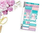 Bubble Gum Yum Personal-Sized Sampler -- Matte Planner Stickers
