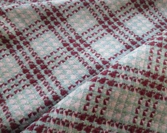 Scottish Tweed Wool Fabric- Patterned Check Tweed - By the Meter