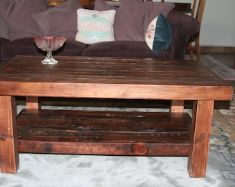 Items Similar To Raw Edge Wood Coffee Table On Etsy