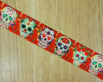 Day of the dead bow etsy for Day of the dead craft supplies