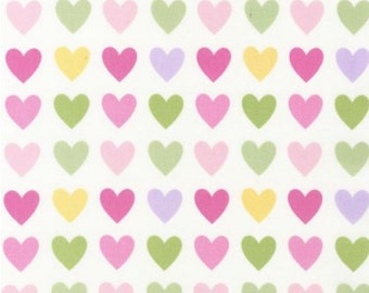 Remix Hearts Fabric - Spring - sold by the 1/2 yard