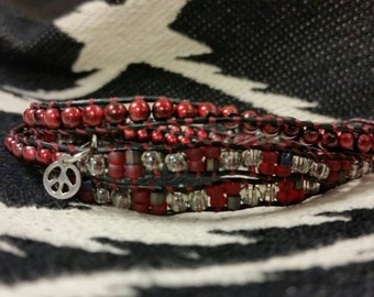 Wrap beaded bracelet