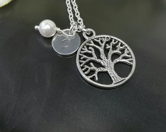 Tree of Life Jewelry, Tree-of-Life Necklace, Family Tree Necklace, Tree of Life Charm, Gifts for Her Under 20, Mother's Day Grandmother Gift