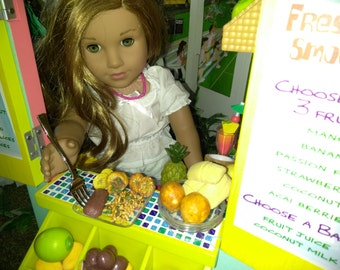 AG Food, Authentic Puerto Rican Food fits American girl Doll, 18 inch Dolls, Arroz Con Gandules, Papa Rellena, Food Replica, Fake Food