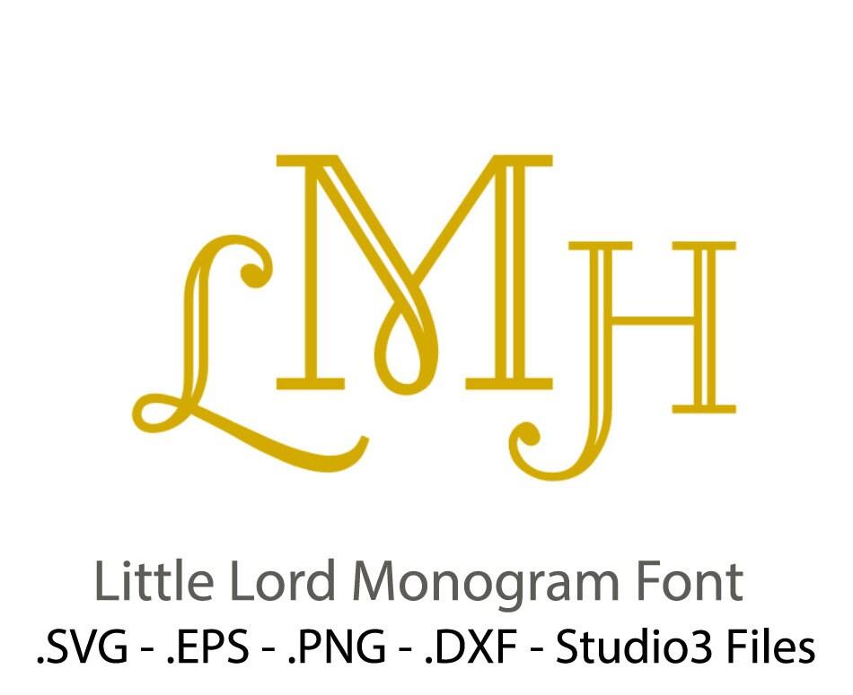 Monogram font vectors from vectorsdesign on etsy studio