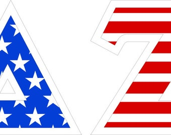 delta zeta american flag giant greek letter sticker