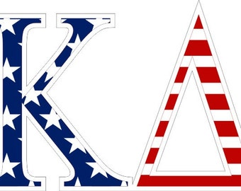 kappa delta american flag greek letter sticker 25