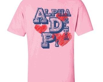 Alpha Delta Pi Typographic Tee