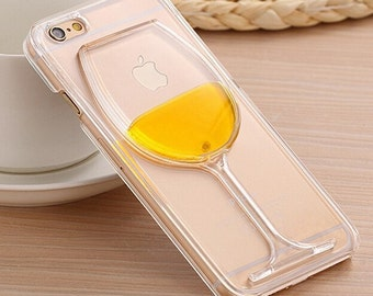 White Wine Champagne Transparent 3D Phone Case for iPhone 6