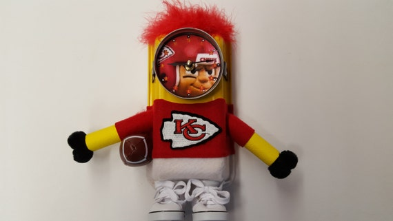 Kansas City Chiefs Clock, Handmade from odd and various materials