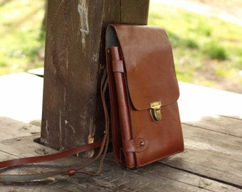 Vintage Army Bag, Officer's Bag.Crossbody Bag leather bag