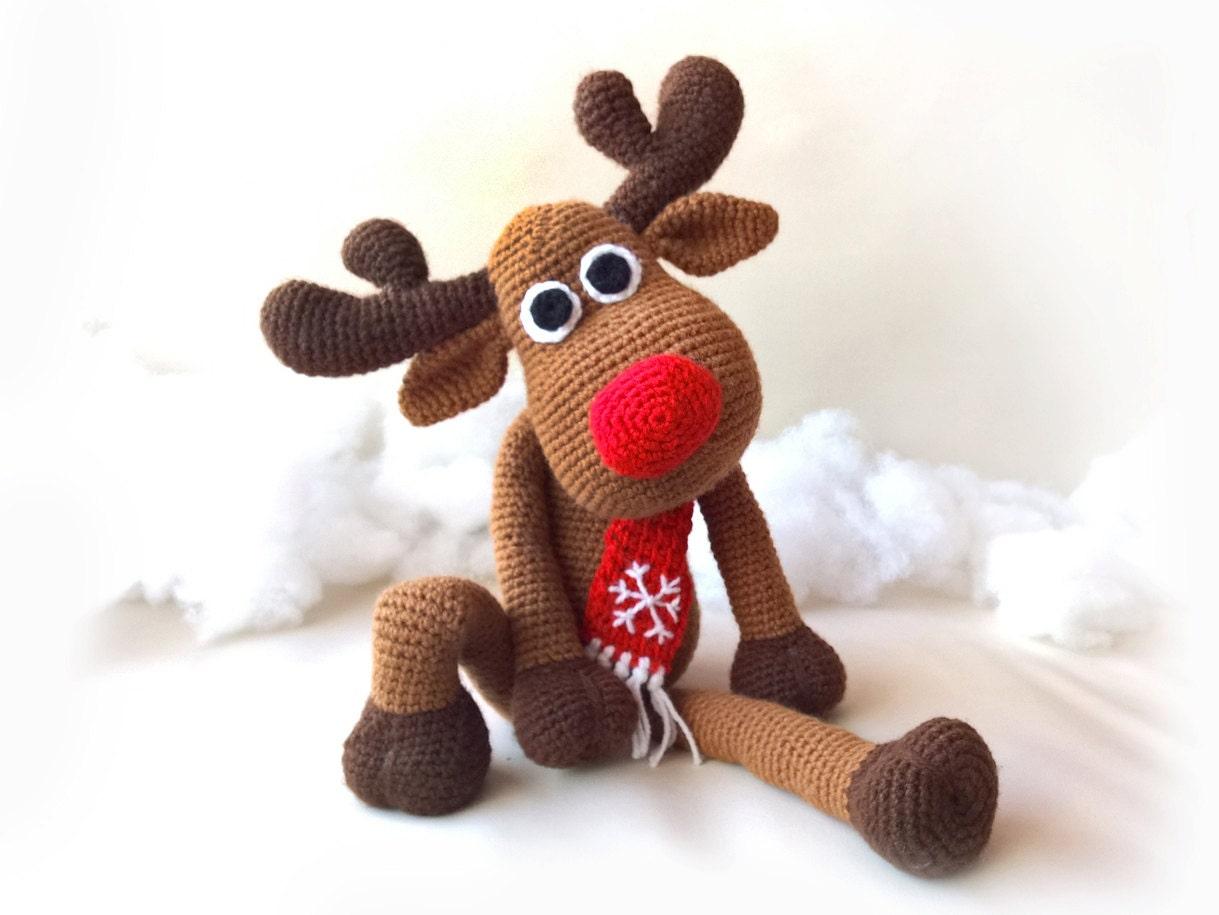 Sale crochet christmas deer patterns rudolph toy reindeer sale crochet christmas deer patterns rudolph toy reindeer amigurumi animals tutorial stuffed toys crochet patterns for babies rudolf bankloansurffo Choice Image