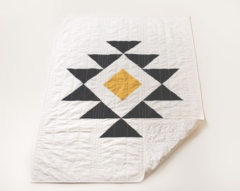 Tribe Quilt / Toddler / Adult Lap Size Throw